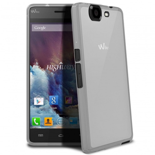 Frozen Ice Extra Slim soft white case for Wiko Highway