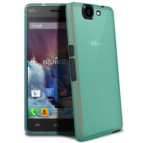 Frozen Ice Extra Slim soft blue case for Wiko Highway