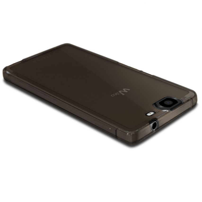 Frozen Ice Extra Slim soft Black case for Wiko Highway