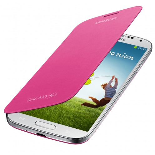 Pink Flip Cover Galaxy S4 official Samsung
