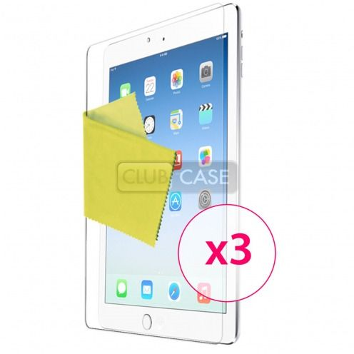 Clubcase ® Ultra-clear HQ iPad Air screen protector set of 3