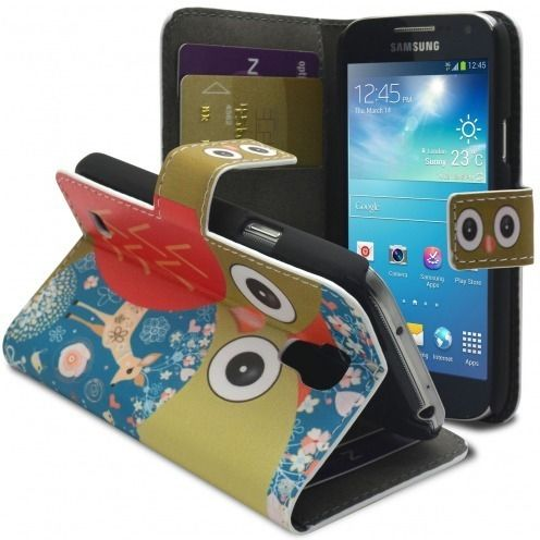 Smart Cover Owl and hind pattern for Galaxy S4 Mini