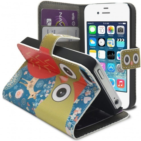 Smart Cover Owl and hind pattern for iPhone 4/4S