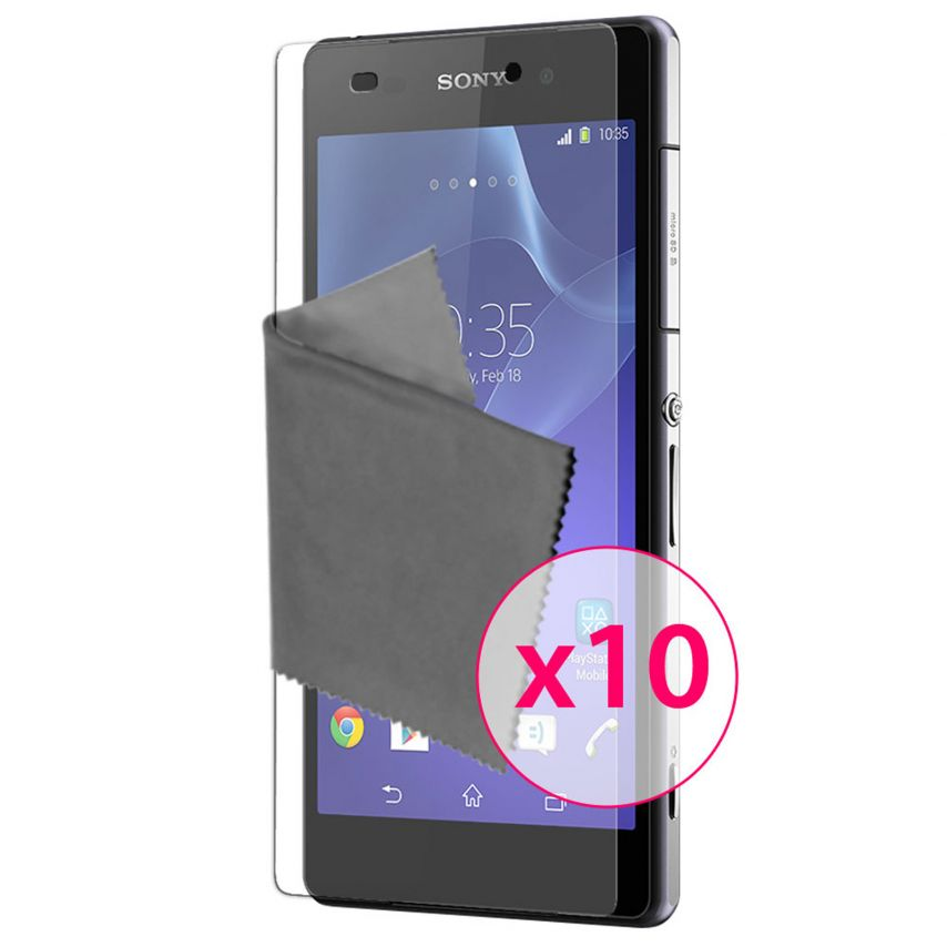 Clubcase ® Ultra Clear HQ screen protector for Sony XPERIA Z2 10-Pack