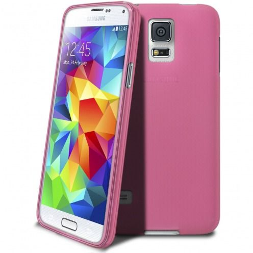 Frozen Ice Extra Slim soft pink case for Samsung Galaxy S5