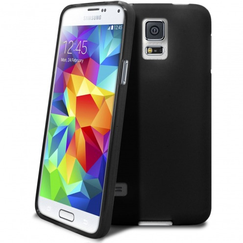 Frozen Ice Extra Slim soft opaque black case for Samsung Galaxy S5
