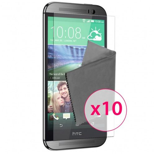 Clubcase ® Ultra Clear HQ screen protector for HTC One M8 10-Pack