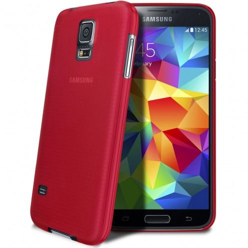Ultra thin Case 0.3 mm Frost for Samsung Galaxy S5 Red