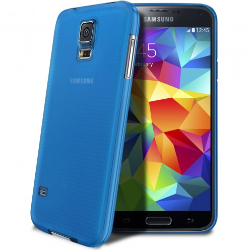 Ultra thin Case 0.3 mm Frost for Samsung Galaxy S5 Blue