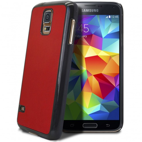 Samsung Galaxy S5 Retro Leather Back Case Red