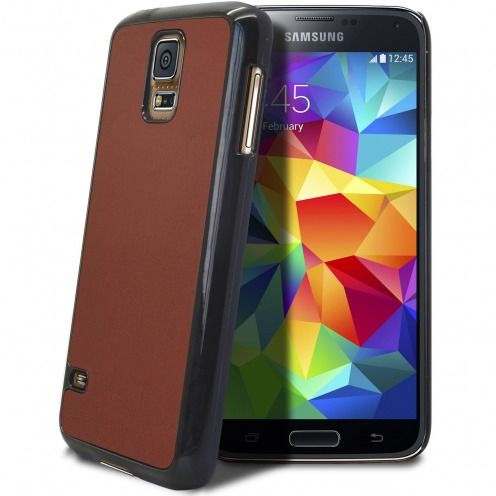 Samsung Galaxy S5 Retro Leather Back Case Havana Brown