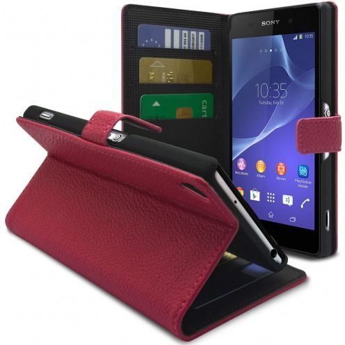 Smart Cover XPERIA Z2 Pink Leatherette Full Grain