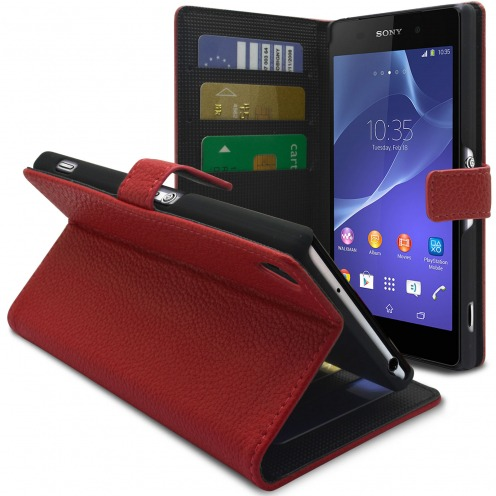 Smart Cover XPERIA Z2 Red Leatherette Full Grain