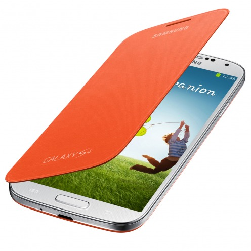 Orange Flip Cover Galaxy S4 official Samsung