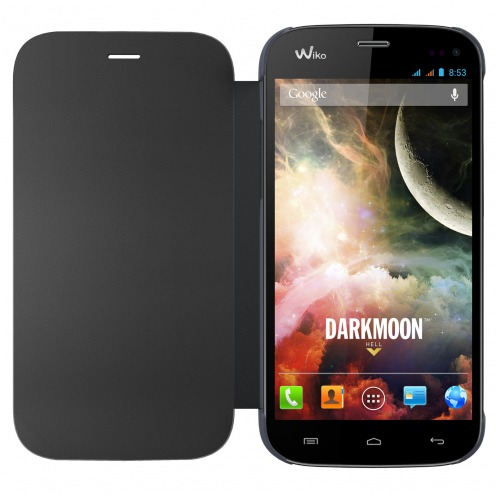 Dark Blue Folio Full Cover Wiko Darkmoon official Wiko