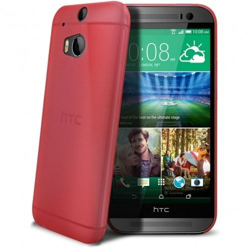 Ultra thin Case 0.3 mm Frost for HTC One M8 Red