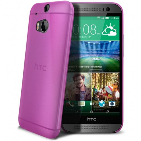 Ultra thin Case 0.3 mm Frost for HTC One M8 Hot Pink