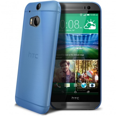 Ultra thin Case 0.3 mm Frost for HTC One M8 Blue