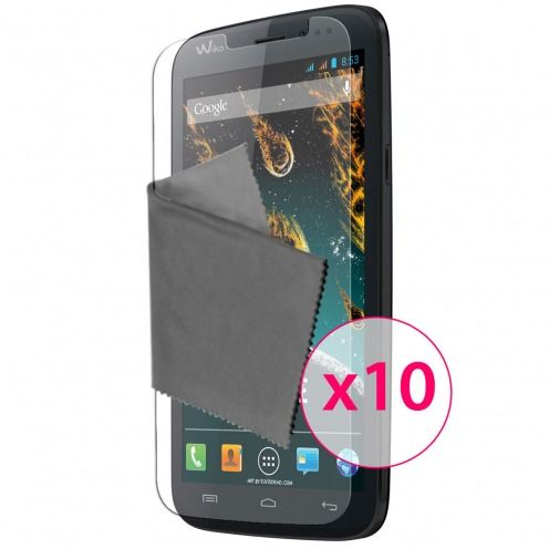 Clubcase ® Ultra Clear HQ screen protector for Wiko Darkside 10-Pack