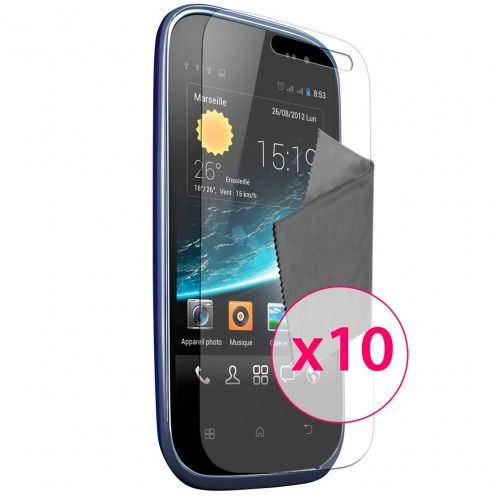 Clubcase ® Ultra Clear HQ screen protector for Wiko Cink Slim 10-Pack