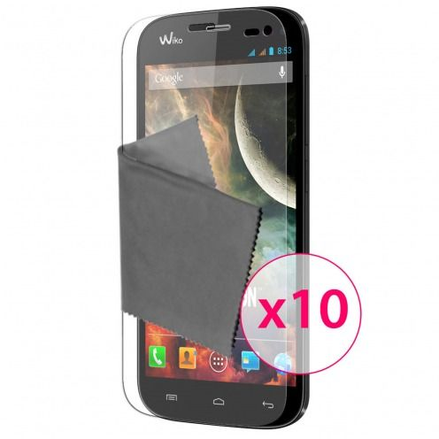Clubcase ® Ultra Clear HQ screen protector for Wiko Darkmoon 10-Pack