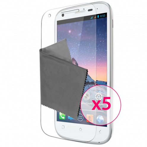 Clubcase ® Ultra Clear HQ screen protector for Wiko Cink Peax & Peax 2 5-Pack
