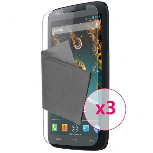 Clubcase ® Ultra Clear HQ screen protector for Wiko Darkside 3-Pack