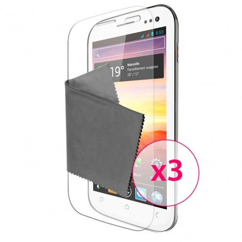 Clubcase ® Ultra Clear HQ screen protector for Wiko Cink King 3-Pack