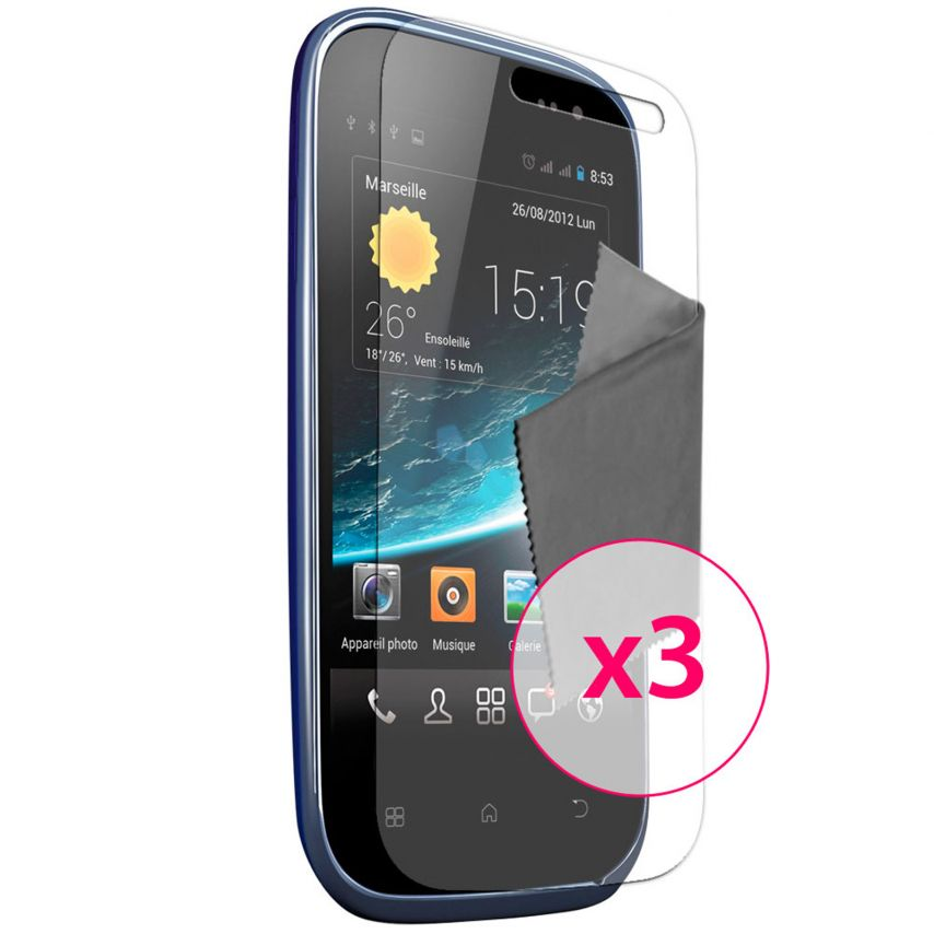 Clubcase ® Ultra Clear HQ screen protector for Wiko Cink Slim 3-Pack
