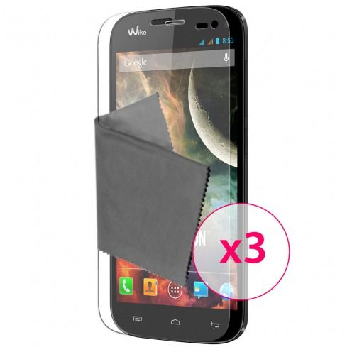 Clubcase ® Ultra Clear HQ screen protector for Wiko Darkmoon 3-Pack