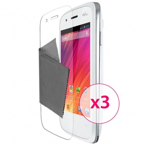 Clubcase ® Ultra Clear HQ screen protector for Wiko Ozzy 3-Pack