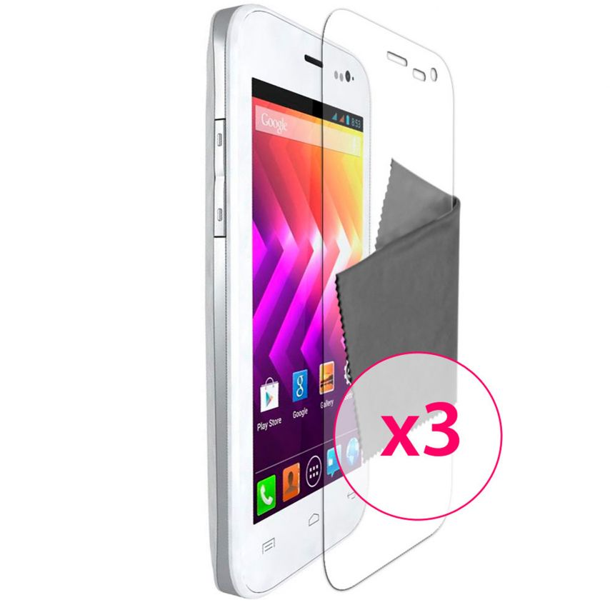 Clubcase ® Ultra Clear HQ screen protector for Wiko Iggy 3-Pack