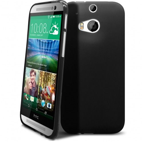 Frozen Ice Extra Slim soft opaque black case for HTC One M8