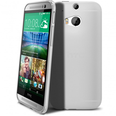 Frozen Ice Extra Slim soft white case for HTC One M8