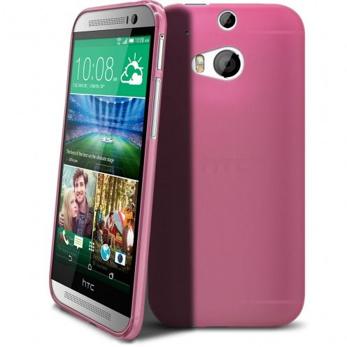 Frozen Ice Extra Slim soft pink case for HTC One M8