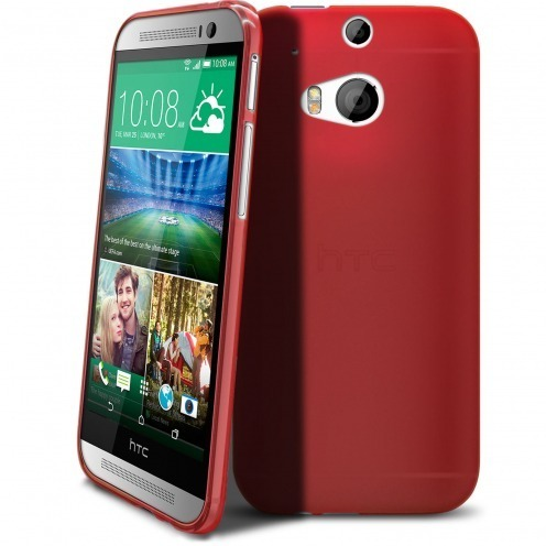 Frozen Ice Extra Slim soft red case for HTC One M8