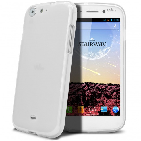 Frozen Ice Extra Slim soft white case for Wiko Stairway
