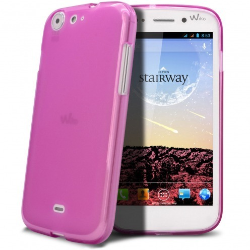 Frozen Ice Extra Slim soft pink case for Wiko Stairway