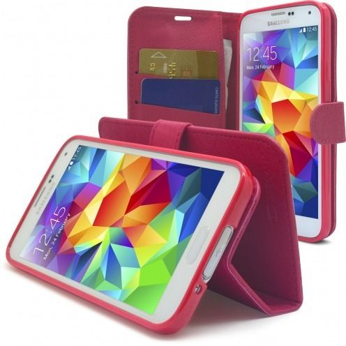 Smart Cover Galaxy S5 Folio Skin Texture Pink