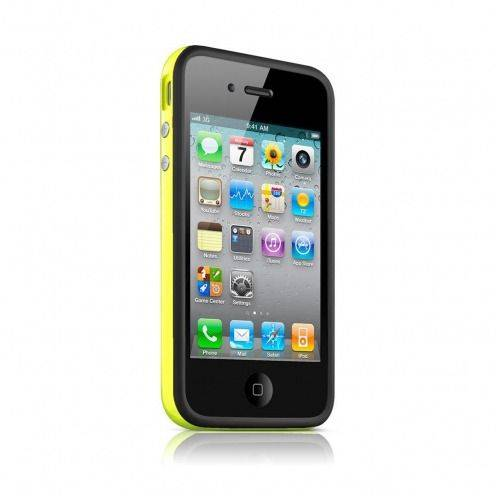 Bumper HQ black / yellow for iPhone 4 S / 4
