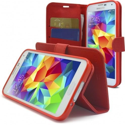 Smart Cover Galaxy S5 Folio Skin Texture Red