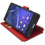Smart Cover XPeria Z2 Folio Skin Texture Red