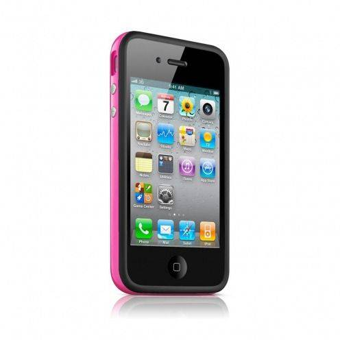 Bumper HQ Black / Rose Pour iPhone 4 S / 4
