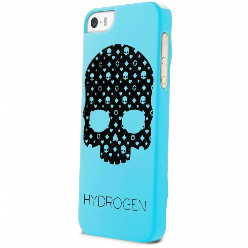 Hydrogen® LV Skull Phosphorescent Case Blue for iPhone 5/5S