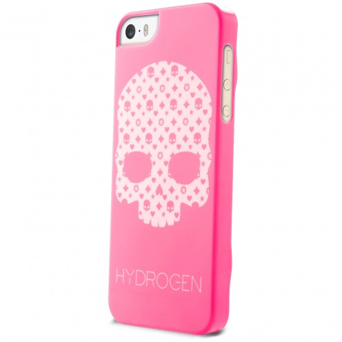 Hydrogen® LV Skull Phosphorescent Case Pink for iPhone 5/5S