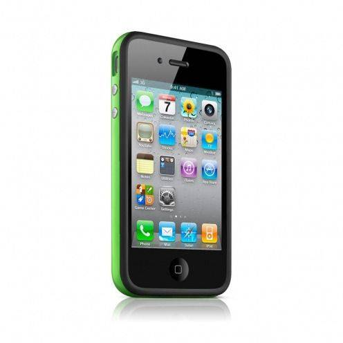 Bumper HQ black / green for iPhone 4 S / 4