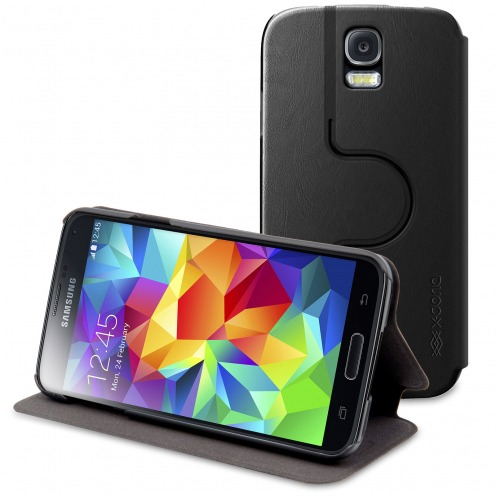 X-Doria® Smart Dash Folio Spin Galaxy S5 Rotating Black Case