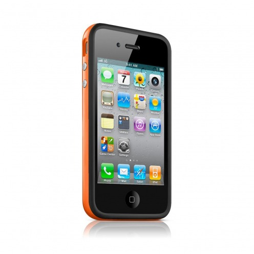 Bumper HQ black / Orange for iPhone 4 S / 4