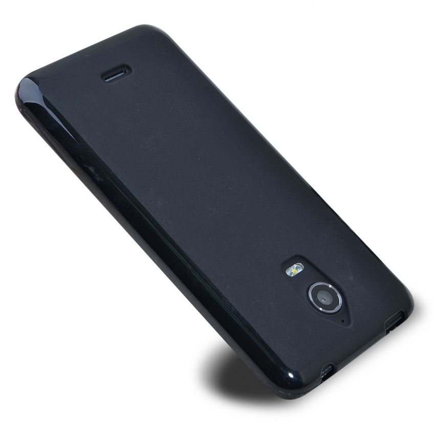 Frozen Ice Extra Slim soft Black opaque case for Wiko Wax