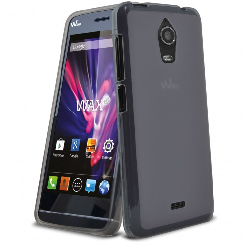 Frozen Ice Extra Slim soft Black case for Wiko Wax
